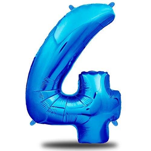 envami Luftballon Geburtstag XXL Blau - Riesen Folienballon in 40