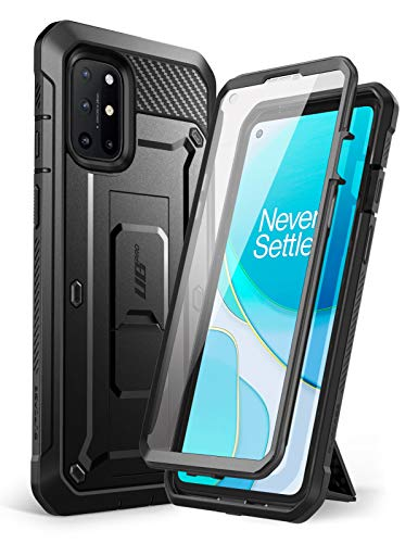 SUPCASE Unicorn Beetle Pro Series Case Designed for OnePlus 8T (2020), Full-Body Rugged Holster Case with Built-in Screen Protector (Black)