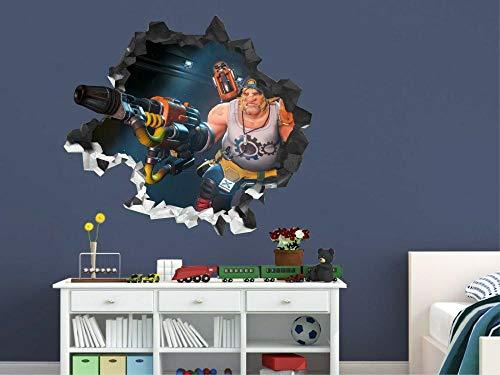 MXLYR 3D pegatinas de pared rotas Arte de vinilo infantil destrozado de Watchman
