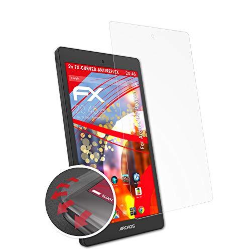 atFolix Schutzfolie kompatibel mit Archos 80 Oxygen Folie, entspiegelnde & Flexible FX Bildschirmschutzfolie (2X)