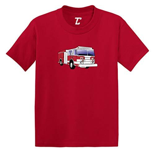 Firetruck - Future Firefighter Infant/Toddler Cotton Jersey T-Shirt (Red, 12 Months)