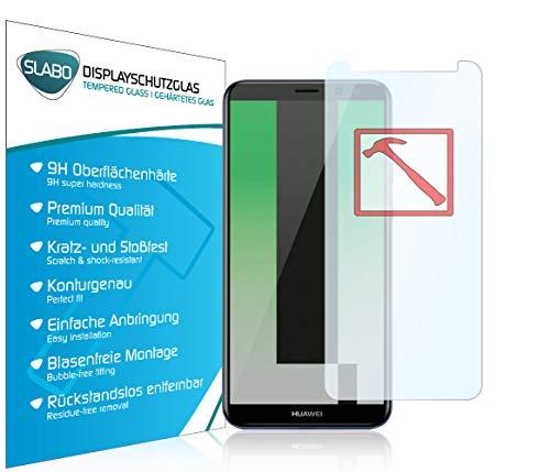 Slabo 3 x Premium Panzerglasfolie für Huawei Mate 10 Lite Panzerfolie Schutzfolie Echtglas Folie Tempered Glass KLAR 9H Hartglas