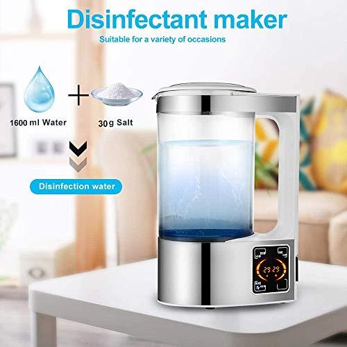 R&CtR 2L Tragbare Natriumhypochlorit Umweltschutz Und Ungiftig Physiologische Kochsalzlösung Hausgemachte Maschine für Küchen, Badezimmer, Glas, Teppiche und Mehr