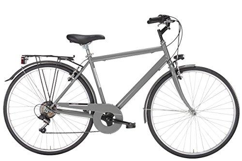 MBM Touring, Bicicletta Uomo, Grigio A09, 50