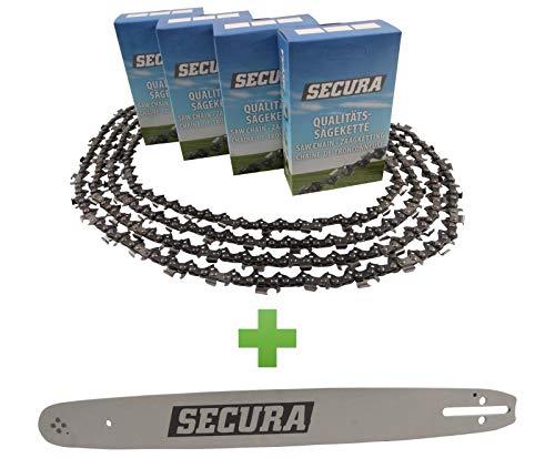 4 Sägeketten + Schwert passend Husqvarna 543 XP | 45cm 0.325 72TG 1,5mm