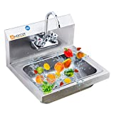 HOCCOT 304 Stainless Steel Sink, Wall Mounted Commercial...
