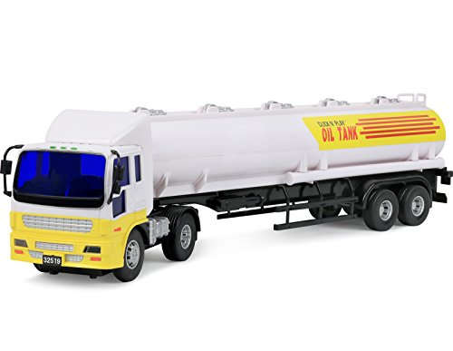 Click N' Play Friction Powered Jumbo Oil Tanker Truck Toy Vehicle for Kids