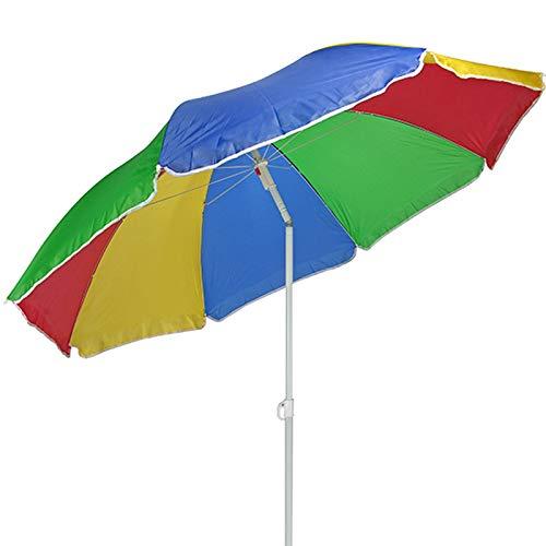 JEMIDI Sonnenschirm/Strandschirm 150cm Durchmesser Sonnenschutz Schirm Sonnen Kippschirm