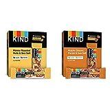 KIND Bars, Honey Roasted Nuts & Sea Salt, Gluten Free, Low Sugar, 1.4oz, 12 Count & Bars, Maple...