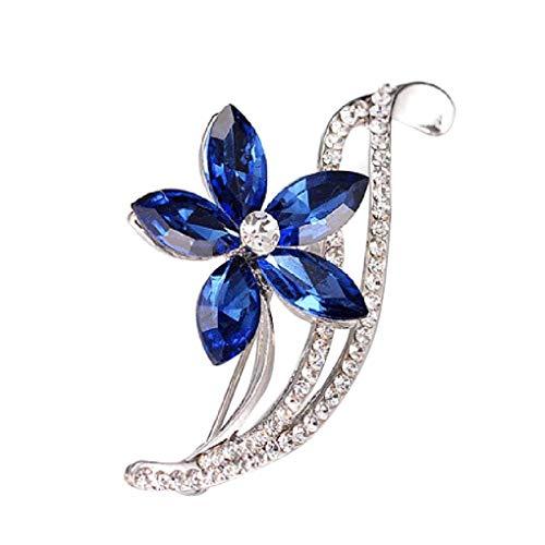 Windy5 Kristallblumen-Brosche-Frauen-Kleidung Decor Schmuck Weihnachten Pullover Brosche Mädchen Hochzeit Schmuck Breastpin