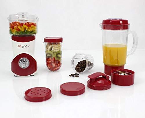 BE PRO Batidora de Vaso Chef Mix Center. 3 Cuchillas Intercambiables. 22.000 R.P.M. Robot Multiusos