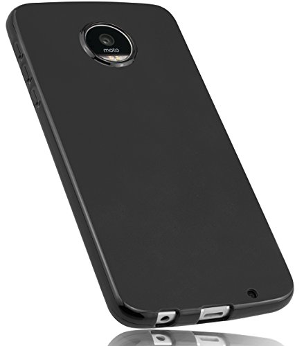 mumbi Hülle kompatibel mit Lenovo Moto Z Play Handy Case Handyhülle, schwarz
