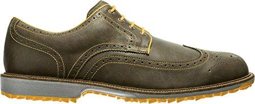 FootJoy New Mens Club Professional Spikeless FJ Golf Shoes Brown/Yellow Sz 9.5M