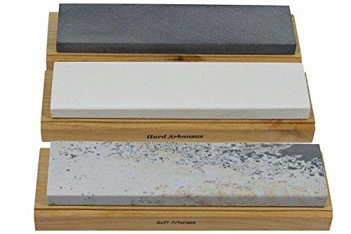 Best Sharpening Stones Arkansas Schleifstein-Set, Holz, 6 Stück