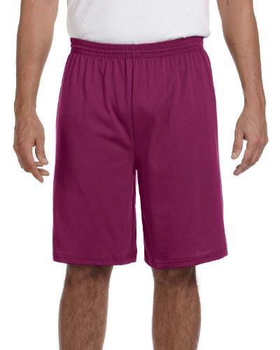 Augusta Sportswear Men's Longer Length Jersey Short, MAROON, XX-Large