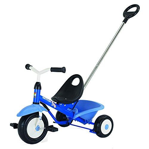 Kettler Funtrike Waldi - das coole Dreirad mit Schiebestange - Kinderdreirad für Kinder ab 2 Jahren - stabiles Kinderfahrzeug inkl. kippbarer Sandschale - blau