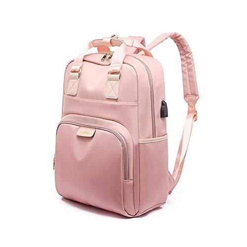 Stijlvolle Waterdichte Laptop Rugzak Vrouwen Mode Rugzak voor Meisjes Zwart Rugzak Vrouwelijke Grote Tas 13 13.3 14 15 inch Roze