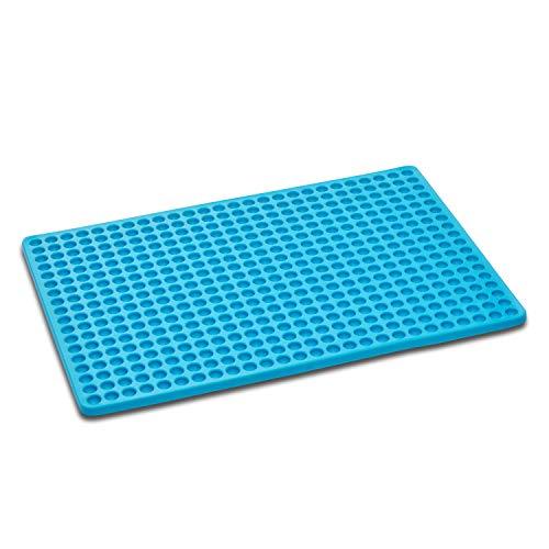 Songway siliconen bakmat BPA-vrij hittebestendig 446°F/230°C chocolade mal mini bakvorm voor huisdier koekjes vlees bakken calorie verminderen Blauw
