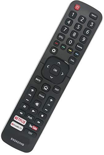 ALLIMITY EN2X27HS Control Remoto reemplazado por Hisense UHD Smart TV 65K5500UWTS H32M2600 H40M3300 H40MEC3350 H43M3000UK...