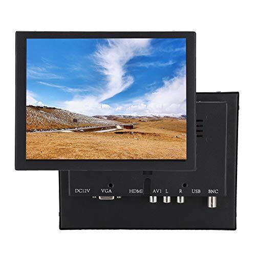 Wendry Monitor LCD HDMI de 8 Pulgadas, Monitor de Video en Color LCD pequeño Soporte de Pantalla VGA/BNC/AV Entrada Adecuada para PC, CCTV, CCTV, cámara de Video, computadora, etc.(UE)