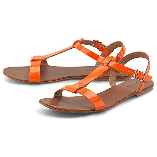 Cox Damen Trend-Sandale Orange Glattleder 40