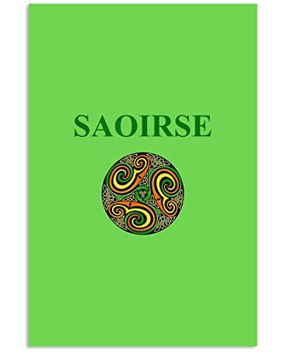 AZSTEEL Irisches Saoirse T-Shirt für Herren, Damen, Kinder | Poster ohne Rahmen für Bürodekoration, bestes Geschenk für Familie und Freunde 29,4 x 41,8 cm