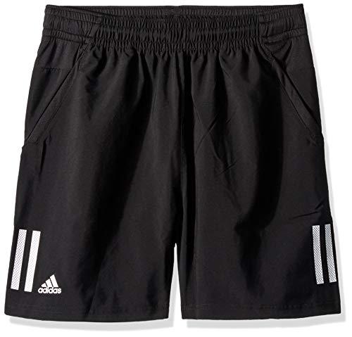 adidas Juniors 3 Stripes Club Tennis Shorts BlackWhite XX Small