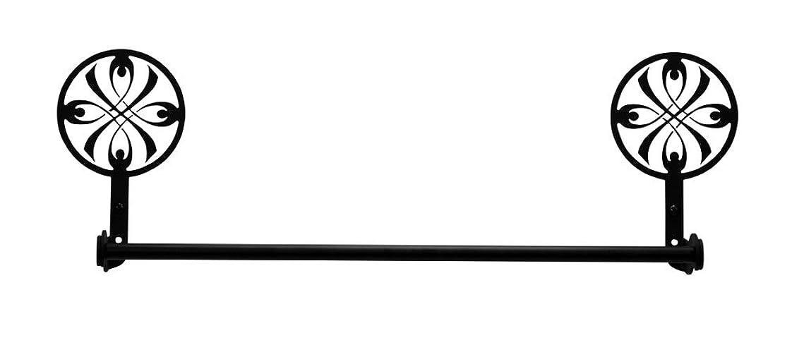 キラウエア山同盟衝撃Ironリボンスモール18インチタオルラックバスルームタオルレール?–?Heavy Dutyメタルバスルームハンガー、タオル乾燥ラック、タオルホルダータオルバー、インドア、Ourdoorタオルラック