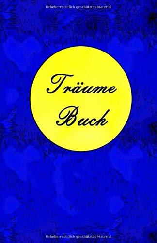 Träumebuch Nacht Mond Taschenbuch im Softcover Kleinformat in Blau Gelb: 5,5 x 8,5 13,97 x 21,59 praktisches handliches Format