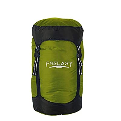 Frelaxy Compression Stuff Sack, Compression Sack for Sleeping Bag, 8L/15L/25L/35L Water-Resistant & Ultralight & Compact - Space Saving Gear for Camping, Traveling, and Outdoors (Army Green, L)