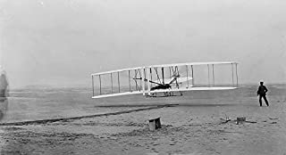 Home Comforts Airplane Aeroplane Test Classic Wright Brothers Laminated Poster Print 24 x 36