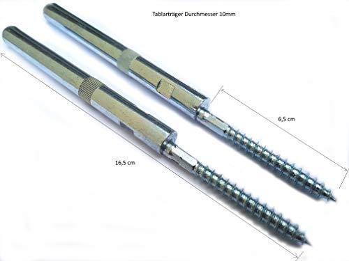 Holz-Projekt-Summer Regalbodenträger Regalbodenträger 5er-Pack/10er-Pack - Tablarträger mit Fester Stockschraube für versteckte Montage - Durchmesser:10mm/12mm (5, 10mm)