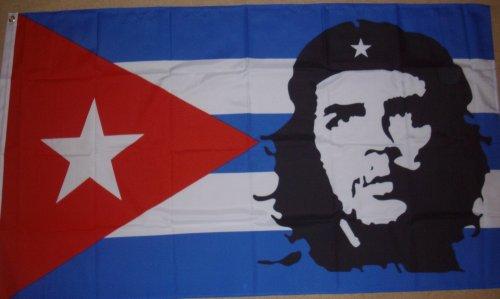 Kubanische Flagge mit Che Guevara, 152x91cm