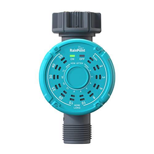 Rain Point Bewässerungscomputer, Automatische Bewässerungsuhr, Einfache und Schnelle Programmierung Garten Wasser Zeitschaltuhr mit 144 Bewässerungsplan, Blau