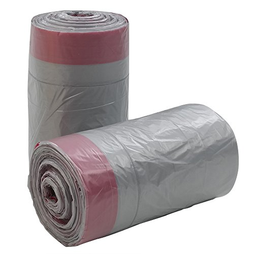 Gitany Bolsas de Basura con cordón, Color Gris Transparente, 50 L, 125 Bolsas