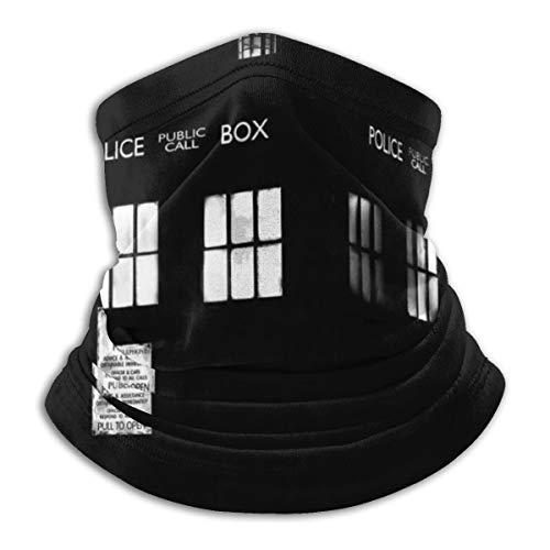 N/A Tardis Monochrome Doctor Who Telefonzelle Telefonleuchten Fashion Warm Ski Mikrofaser Halswärmer