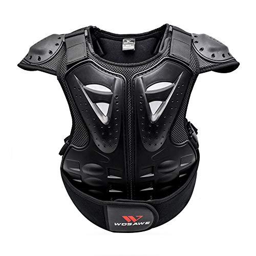 GUARDUU Kids Protector Weste, Kindersport Rücken Brustschutz Gear Cycling Body Armor Zum Radfahren Rollerblading Rollschuhe BMX Inline Skatings Bike Scooter Riding Sports