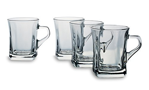 Bohemia Cristal 093 006 141 Glühweinbecher ca. 240 ml aus Kalk-Natron-Glas 4er Set