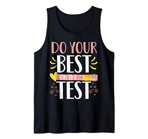 beston men shoes do your best on the test cute testing week teacher tee gift Tank Top