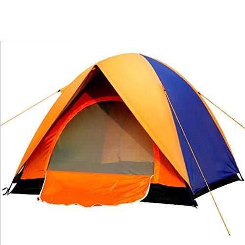 RongDuosi Oranje Outdoor Dubbele 3 Aan 4 Personen Dubbele Deur Tent Camping 2 Personen Tent Wind En Regen Zonnebrandcrème Schokbestendig Anti-muggen Luifel Outdoor Uitrusting Zwembed