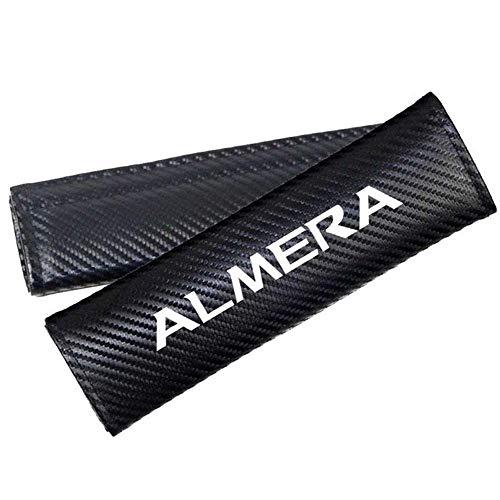 Cubiertas de correa del cinturón de seguridad para el cinturón de las cubiertas de la correa para el hombro para las cubiertas del cinturón de seguridad de Nissan Almera, las almohadillas de hombros,