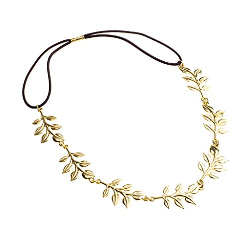 Gold Metal Elegante Haarband Stirnband Stirnschmuck Kette Haar Kopfschmuck