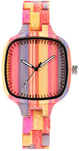 Reloj de Madera de bambú Colorido Pulsera de bambú de Madera de Moda respetuosa con el Medio Ambiente