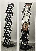 Lepose SAI A4 Metal Floor Standing Catalogue Magazine Holder Rack Display Stand (Large, Black)