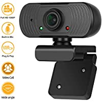 Maylibet Full HD 1080p Webcam with Microphone
