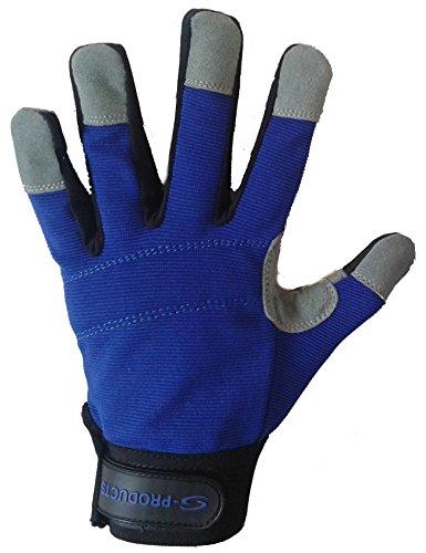 Mécanique de travail à la main de sécurité Protection DIY Entrepôt Ranger Homme Bleu de travail Gants de livraison gratuite au Royaume-Uni M bleu