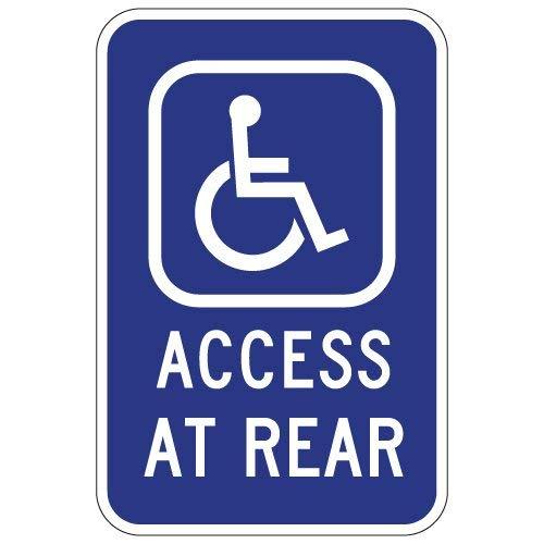 Brillon Rollstuhl-Schild für Behindertenfahrer, 20,3 x 30,5 cm