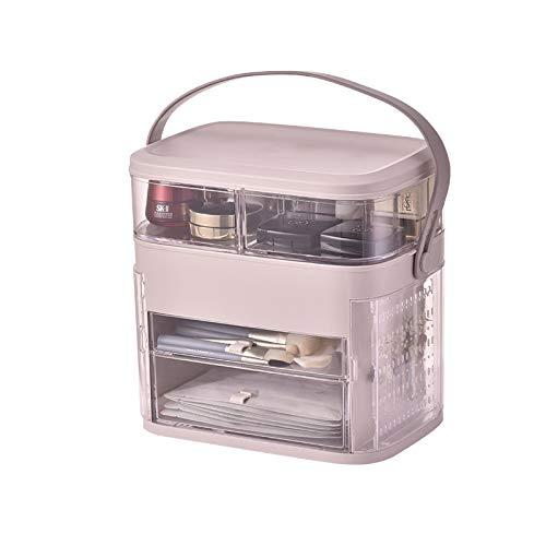 HOODIE Make-up Organisator Acryl verstelbare juwelendoos Cosmetische Parfums Display Stand Box, 11.8 * 8.2 * 11.6in 2 laden Grote capaciteit make-up opslag voor Dresser, Slaapkamer, Badkamer