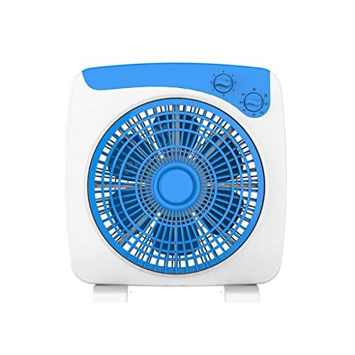 C-J-Xin Ventilador de mesa, 360 ° Suministro de aire del ventilador eléctrico de la luz 6 hojas de seguridad de circulación rejilla de aire del ventilador portátil Recamara Usar Blue Hogar Ventiladore