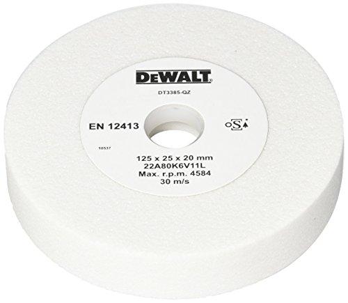 DeWalt dt3385-qz Schleifscheibe für esmerilar und Schleifstein aus Aluminiumoxid weiß, Ø 80mm, Stärke: 125mm, Innendurchmesser: 25mm